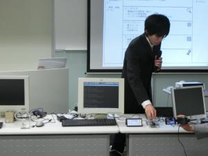 発表する受講生の写真