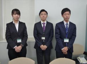 畠山さん、技大OB、菊川君の写真