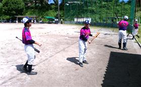 試合前の画像