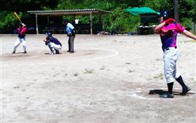 試合中の画像